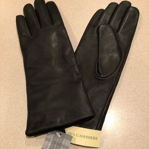 Ladies 100% Cashmere lined Genuine Leather gloves